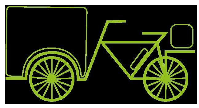 Bicicletta Urbico Adibita al trasporto di prodotti enogastronomici
